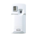 Rubbermaid FG401219 Microburst 3000 LCD Odor Control Dispenser, White