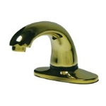 Rubbermaid FG401824 Milano Auto Faucet w/ Single Hole, Kit 3, Brass