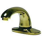 Rubbermaid FG750181 Milano Auto Faucet w/ 1-Hole, Thermostatic Mixing Valve, Supply Hose, Brass