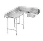 Advance Tabco DTS-K30-144L 143-in Korner Soil Dishtable w/ Crossrails, Left to Right, 14-Ga. Stainless