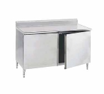 Advance Tabco HK-SS-363M 36-in Table, Base w/ Doors, Shelf & 5-in Backsplash, 36-in Wide