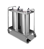 APW Wyott TL2-9 Lowerator Dual Dish Dispenser, Mobile, Maximum Dish 9-1/8, Stainless