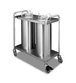 APW Wyott TL2-12A Lowerator Dual Dish Dispenser, Mobile, Maximum Dish 11-7/8, Stainless