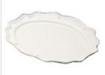 Bon Chef 2030P Oval Platter, 18.75 x 24-in, Aluminum/Pewter-Glo