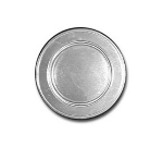 Bon Chef 1021S DKBL 7.5-in Rimmed Salad Plate, Aluminum/Dark Blue
