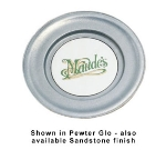 Bon Chef 1091P 11-in Wide-Rim Show Plate, Aluminum/Pewter-Glo