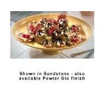Bon Chef 20269059P Pedestal Platter, 17 x 12.25-in, Aluminum/Pewter-Glo