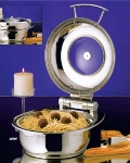 Bon Chef 20303 Round Mini Induction Chafer With Glass, Small
