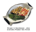 Bon Chef 2039S WH Fish Platter, 8 x 13-in, Aluminum/White