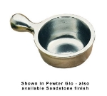 Bon Chef 3011P 10-oz Soup Bowl w/ Handle, Aluminum/Pewter-Glo