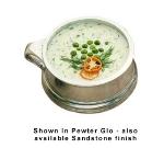 Bon Chef 3013P 14-oz Soup Bowl w/ Side Ring Handle, Aluminum/Pewter-Glo