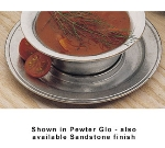 Bon Chef 3021P Saucer, 6-3/8-in, Aluminum/Pewter-Glo
