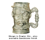Bon Chef 4023S DROS 14-oz English Toby Old Man Tankard, Aluminum/Dusty Rose