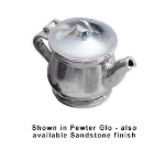 Bon Chef 4024S IVOS 11-oz Teapot w/ Insulated Handle, Aluminum/Ivory Speckled