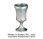Bon Chef 4026S BLKS 11-oz Galt Water Goblet, Aluminum/Black Speckled