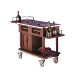 Bon Chef 50010 Flambe Traditional Trolley, Stainless Removable Grills, Casters