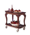 Bon Chef 50030 Guerridon Neo Trolley, 2 Shelves, Swivel Casters