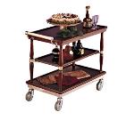 Bon Chef 50040 Guerridon Classic Trolley, 3 Shelves, Swivel Casters