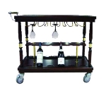 Bon Chef 50071 Wine Serving Cart w/ Glass Storage Rack, Heavy Duty Casters