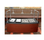 Bon Chef 50100 36-in Curved Buffet Station, Single-Sided, 2-Hot Wells, 2-Cold Wells