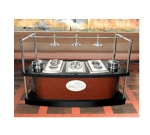 Bon Chef 50101 36-in Curved Buffet Station, Single-Sided, 3-Hot Wells