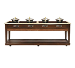 Bon Chef 50121 Residential Induction Buffet w/ Ceramic Glass and Zodiac Top 110 V