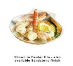 Bon Chef 5013S BLKS 3-oz Seafood Baking Shell, Aluminum/Black Speckled