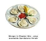 Bon Chef 5017S IVOS 10.5-in Oyster Clam Plate, Aluminum/Ivory Speckled