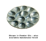 Bon Chef 5022P 11.25-in Oyster Dish, 12-Hole, Aluminum/Pewter-Glo