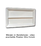 Bon Chef 5056DS IVO Full Size Divided Display Pan, 2-in Deep, Aluminum/Ivory