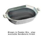 Bon Chef 5068S IVOS 2-qt Octagon Bouillabaisse Dish, Aluminum/Ivory Speckled