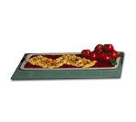 Bon Chef 5101S IVOS 25-in Banquet Serving Platter, Aluminum/Ivory Speckled