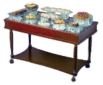 Bon Chef 51010 Display Food Trolley, 24 x 50-in, For Use w/ Portable Light Box