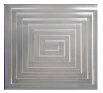 Bon Chef 52013P Custom Cut Tile For 6050, Aluminum/Pewter-Glo