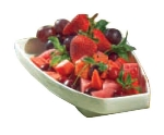 Bon Chef 70062S DROS Platter, 12 x 7 x 1.5-in, Aluminum/Dusty Rose