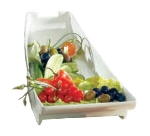 Bon Chef 70063S IVOS Platter, 20 x 8 x 4.5-in, Aluminum/Ivory Speckled