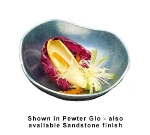 Bon Chef 9015S WH 16-oz Scalloped Footed Salad Bowl, Aluminum/White