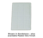 Bon Chef 960114SIVOS 1/4-Size Tile Tray, 13.5 x 7-1/16-in., Aluminum/Ivory Speckled