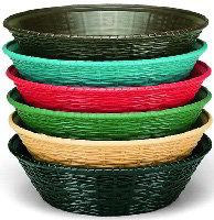 Carlisle 652409 WeaveWear Basket, 9 in, Round Polypropylene, Green