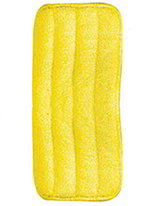 Carlisle 363322404 Microfiber Looped End Wet Mop Pad, 24-in, Yellow