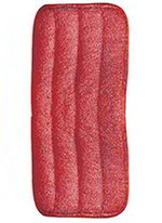 Carlisle 363322405 Microfiber Looped End Wet Mop Pad, 24-in, Red