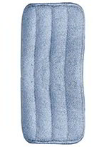 Carlisle 363322414 Microfiber Looped End Wet Mop Pad, 24-in, Blue