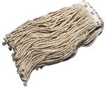 Carlisle 36973200 8-Ply Mop Head w/ Narrow Banded Natural Cotton Yarn, #32