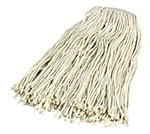 Carlisle 369824B00 4-Ply Mop Head w/ Cut-End, Narrow Banded Cotton Yarn, #24