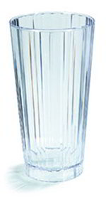Carlisle 4363807 16-oz Fluted Polycarbonate Stacking Tumbler, Clear