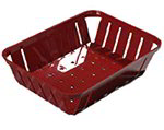 Carlisle 4403105 Rectangular 10-3/8 x 8-in Munchie Basket, Red
