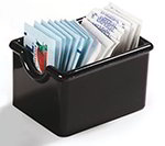 Carlisle 4550-803 Plastic Sugar Packet Caddy, Holds 20 Packets, Black