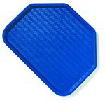 Carlisle CT1713TR14 Trapezoid Cafe Tray, 18 x 14-in, Blue Polypropylene