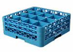 Carlisle RG16-214 Full-Size OptiClean Dishwasher Glass Rack w/ Extender, Carlisle Blue
