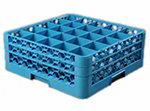 Carlisle RG25-214 Full-Size OptiClean Dishwasher Glass Rack w/ 2 Extenders, NSF, Carlisle Blue